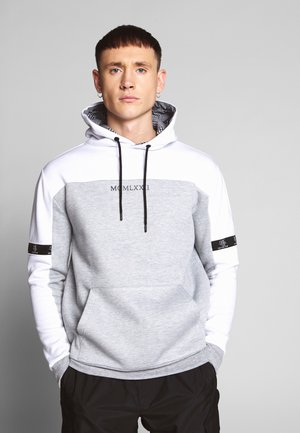 Kapuzenpullover - white/grey marl/black