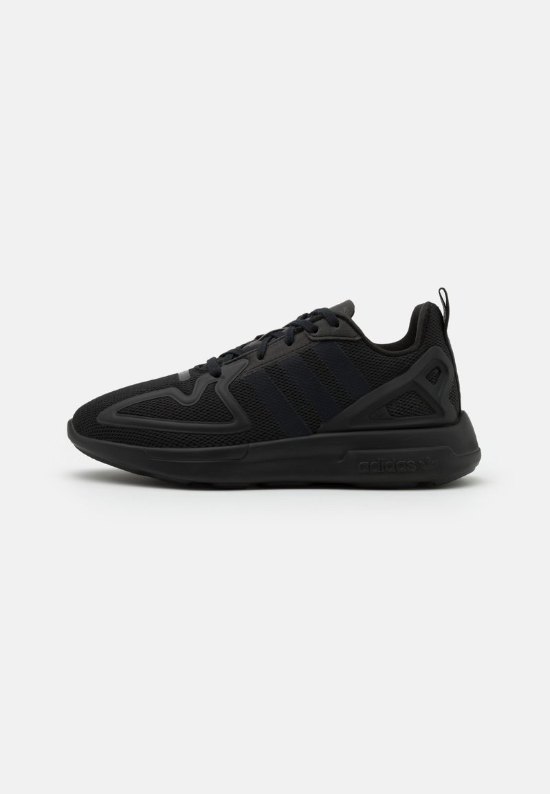 adidas Originals - ZX 2K FLUX UNISEX - Sneakers basse - core black/shock pink