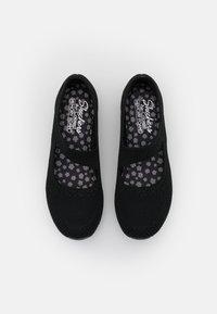 Skechers - BE COOL - Ankle strap ballet pumps - black - 5