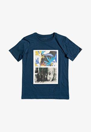 QUIKSILVER™ OVERSIZED - T-SHIRT FÜR JUNGEN 8-16 EQBZT04133 - Print T-shirt - majolica blue