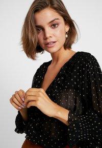 Leon & Harper - CHAMPETRE DOTS - Button-down blouse - black iris - 3