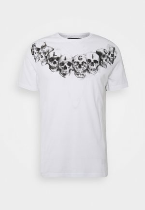 NECKLACE SKULL TEE - T-shirt imprimé - white