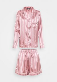 Missguided - STRIPED SHIRT AND SHORTS - Pyjamas - pink - 0