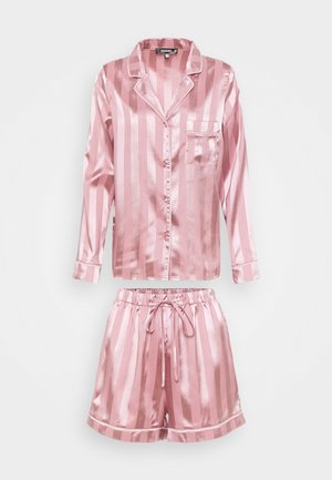 STRIPED SHIRT AND SHORTS - Pyjamas - pink