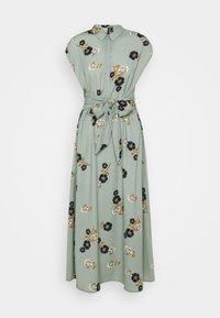 Vero Moda - VMFALLIE LONG TIE DRESS - Skjortekjole - green milieu - 5