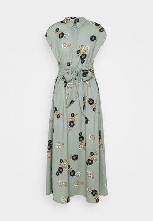 VMFALLIE LONG TIE DRESS - Košilové šaty - green milieu