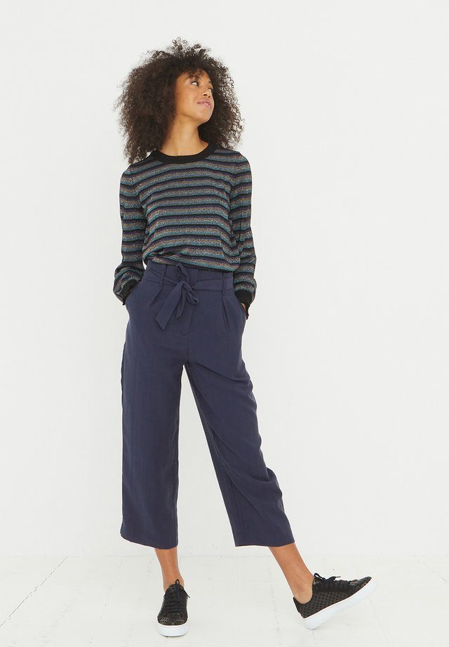 SPARKLE STRIPE & FRILL CUFF  - Jumper - blue