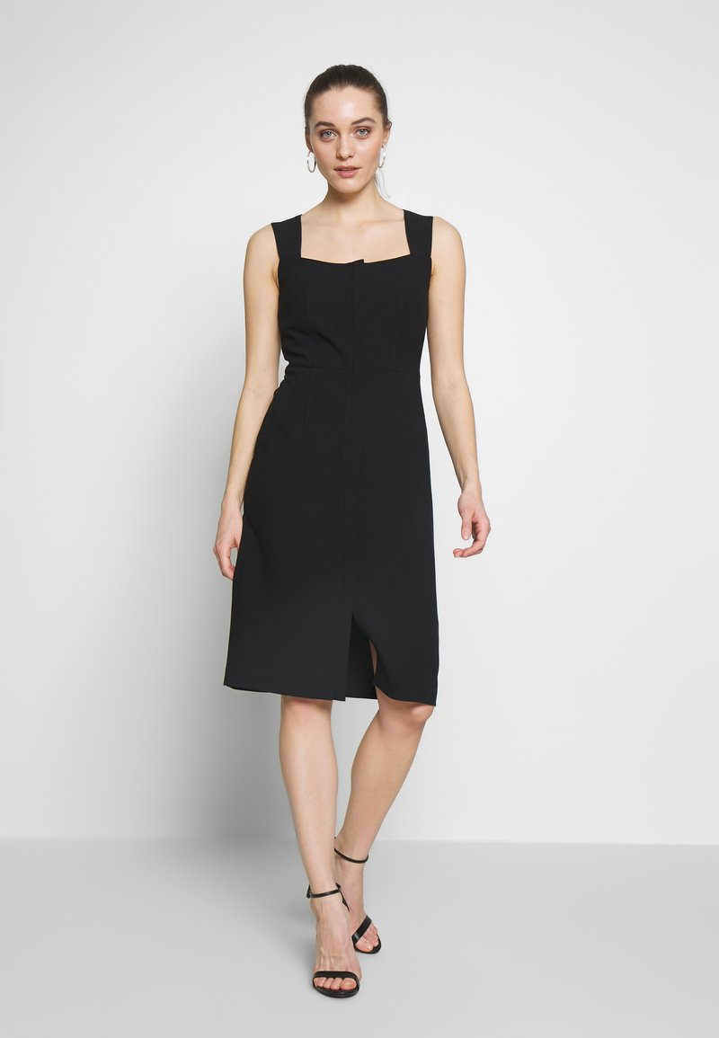 Sisley - DRESS - Shift dress - black