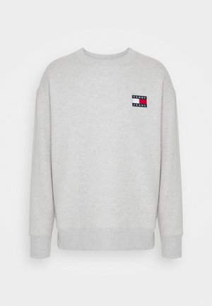 BADGE CREW UNISEX - Mikina - silver grey heather