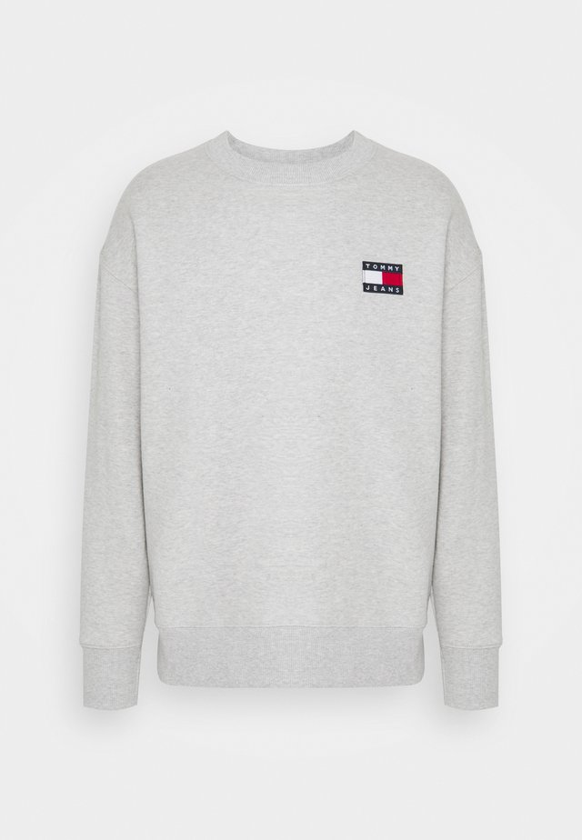 BADGE CREW UNISEX - Sweatshirt - silver grey heather