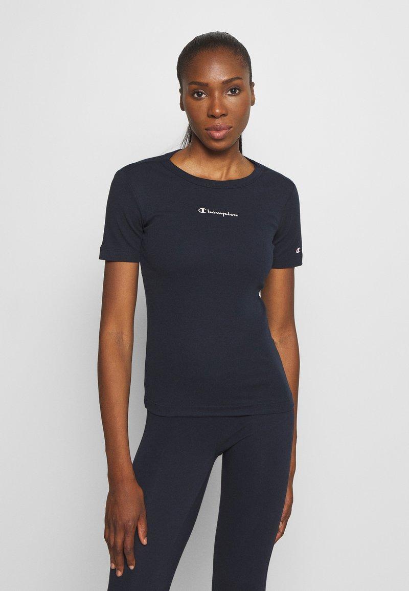 Champion - CREWNECK LEGACY - Print T-shirt - dark blue