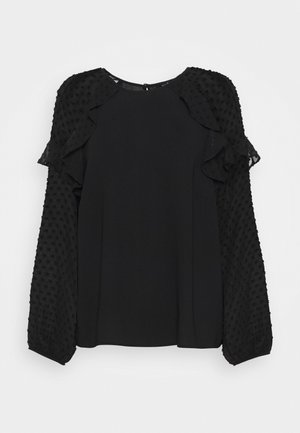 PLAIN DOBBY MIX  - Blouse - black