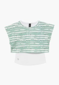 South Beach - GIRLS PRINTED TEE - T-shirt z nadrukiem - sage green - 0