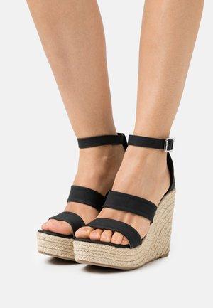 BRADY WEDGE  - Platform sandals - black