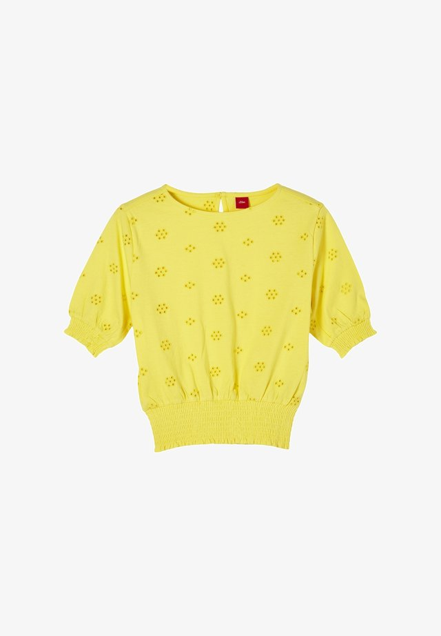 MIT LOCHSTICKEREI - Longsleeve - yellow