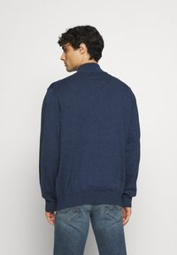 GANT - CLASSIC HALF ZIP - Stickad tröja - dark jeans blue - 2