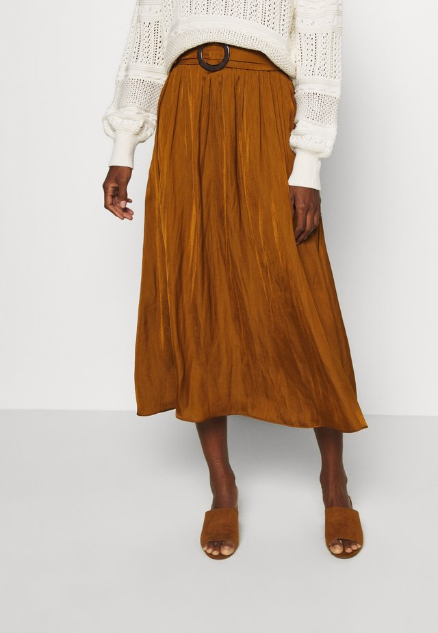 SC-PAMELA 26 - A-line skirt - dark caramel