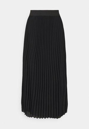 OBJMILA LONG SKIRT - A-line skirt - black