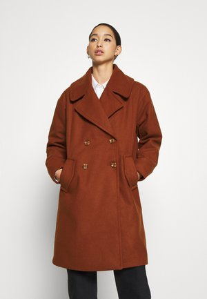 JDYSTORM BIG COLLAR JACKET  - Classic coat - cherry mahogany
