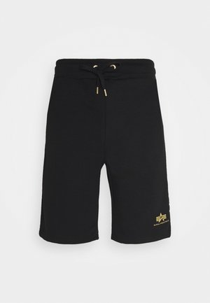BASIC FOIL PRINT - Shorts - black/yellow gold