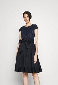 Lauren Ralph Lauren - ZIARAH CAP SLEEVE DRESS - Cocktail dress / Party dress - lighthouse navy - 0