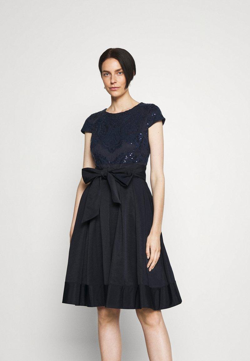 Lauren Ralph Lauren - ZIARAH CAP SLEEVE DRESS - Cocktail dress / Party dress - lighthouse navy