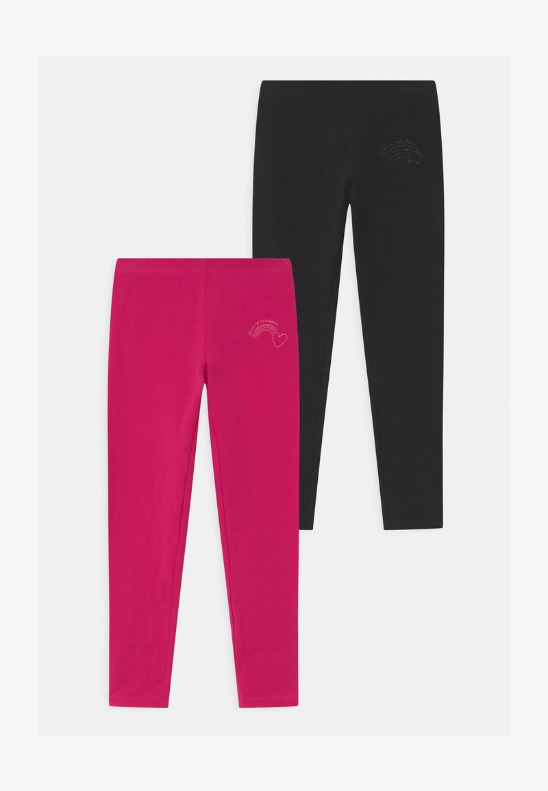 OVS - 2 PACK - Leggings - Trousers - pink yarrow/black