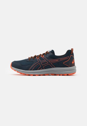 SCOUT - Trail running shoes - french blue/marigold orange