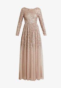 ALL OVER MAXI DRESS WITH PLUNGE BACK - Společenské šaty - taupe blush