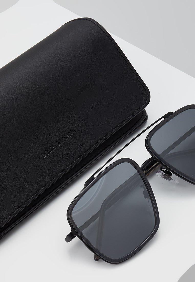 DolceGabbana Sonnenbrille - matte black/transparent grey/schwarz - Herrenaccessoires jTjua