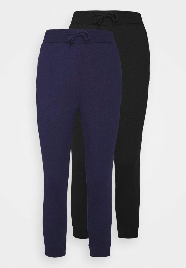 2 PACK - Teplákové kalhoty - black/blue