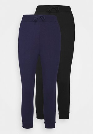 2 PACK - Tracksuit bottoms - black/blue
