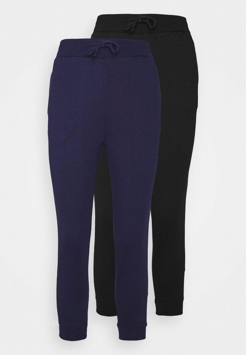 Even&Odd Petite - 2 PACK - Pantalon de survêtement - black/blue