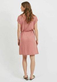 Vila - VIMOONEY STRING - Jersey dress - old rose - 2