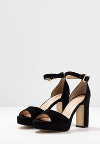Anna Field - LEATHER HIGH HEELED SANDALS - High heeled sandals - black - 4