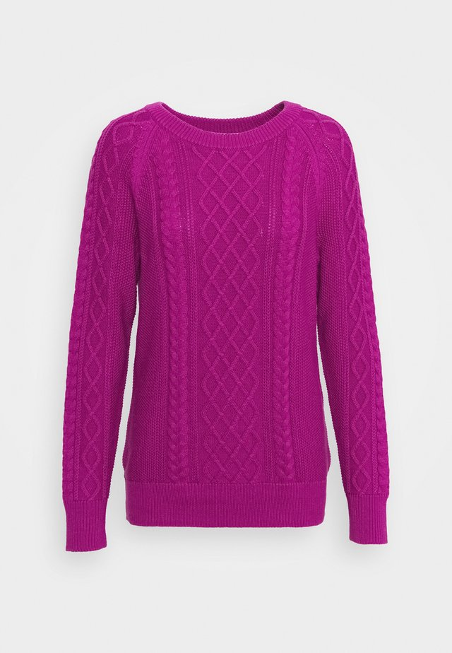 CABLE CREW - Sweter - hot magenta