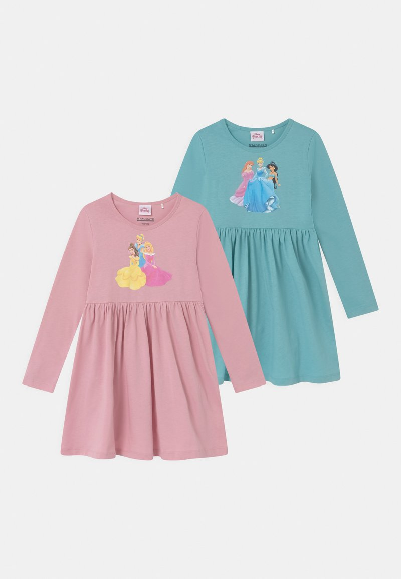 Staccato - DISNEY PRINCESSES 2 PACK - Jersey dress - mint/light pink
