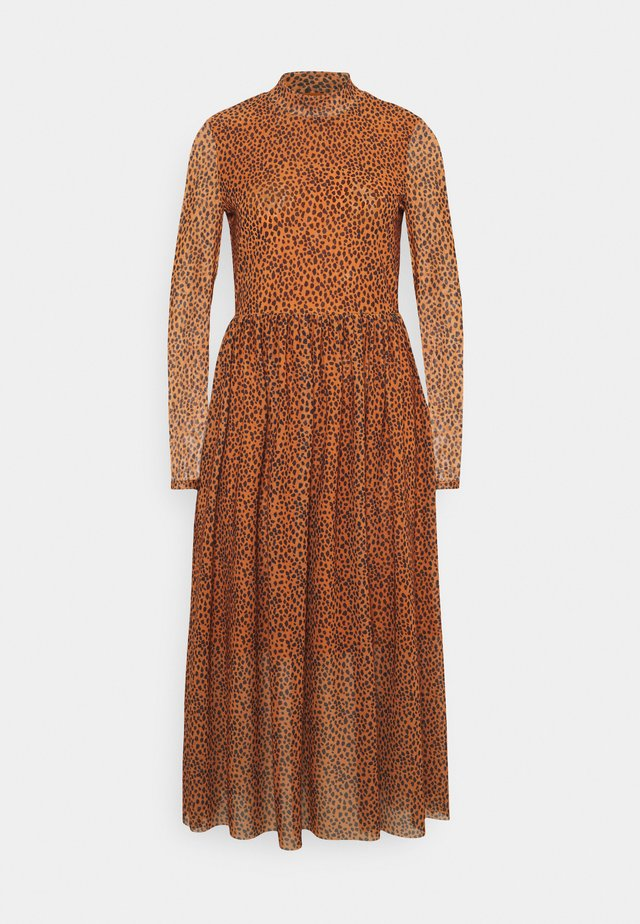 PRINTED MIDI DRESS - Sukienka letnia - brown