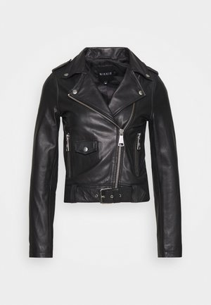 MARIA JACKET - Leather jacket - black