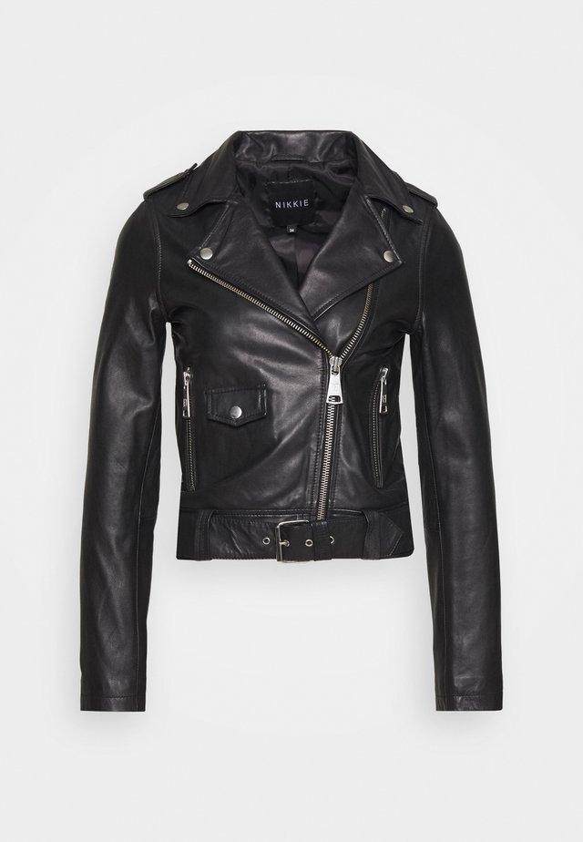 MARIA JACKET - Leather jacket - black