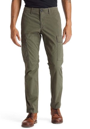 CORE TWILL  - Cargo trousers - grape leaf