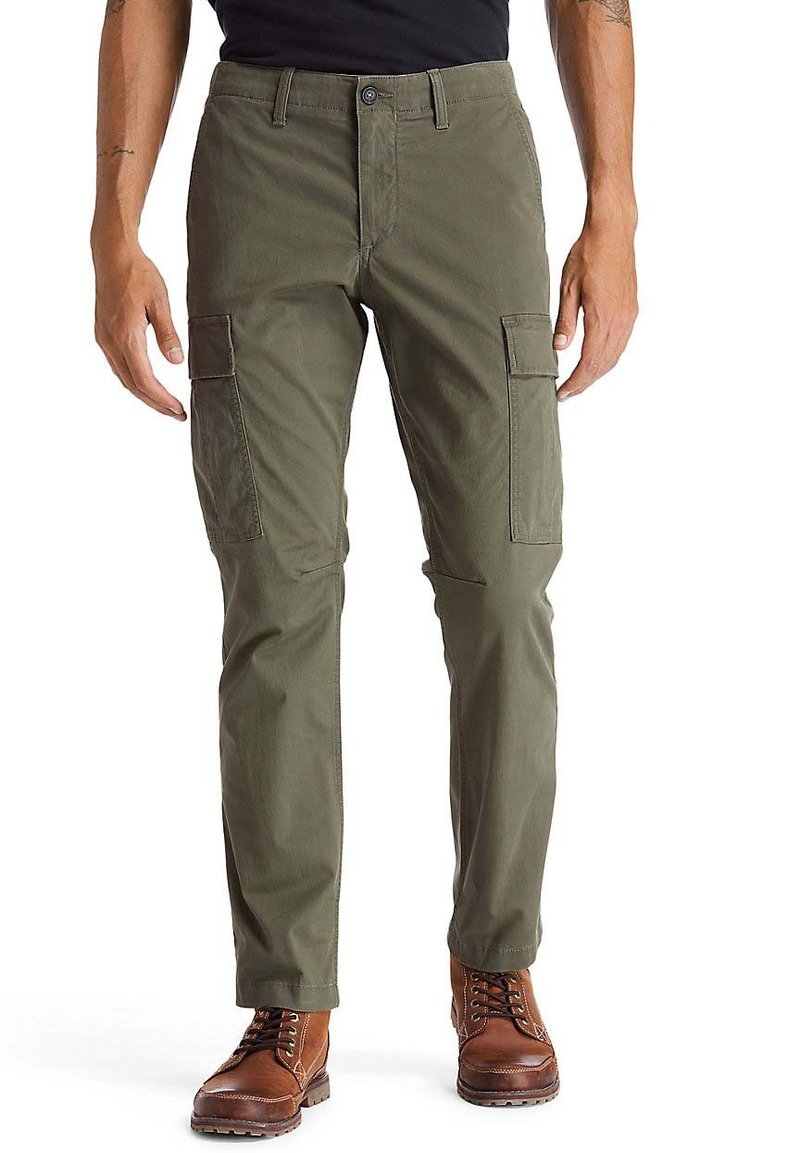 Timberland - CORE TWILL  - Cargo trousers - grape leaf