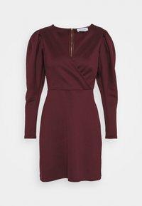 Closet - LONG SLEEVE SKATER DRESS - Jersey dress - burgundy - 4