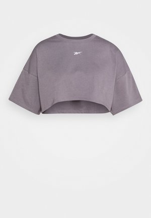 EASY CROP - Print T-shirt - grey