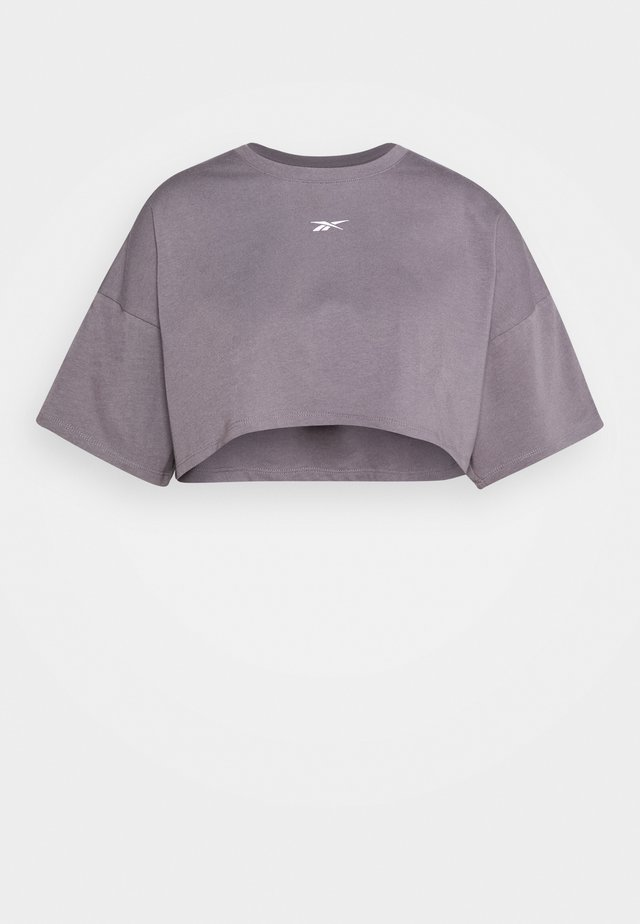 EASY CROP - T-shirt print - grey