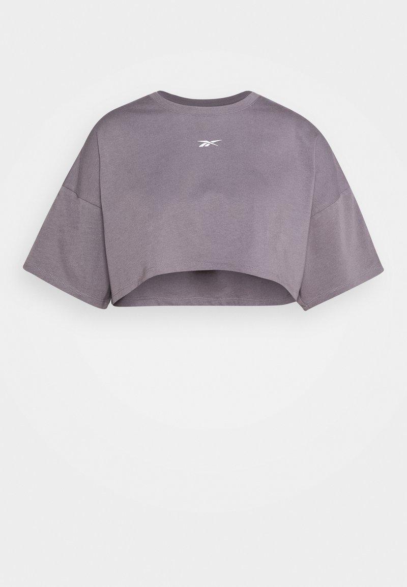 Reebok - EASY CROP - Print T-shirt - grey