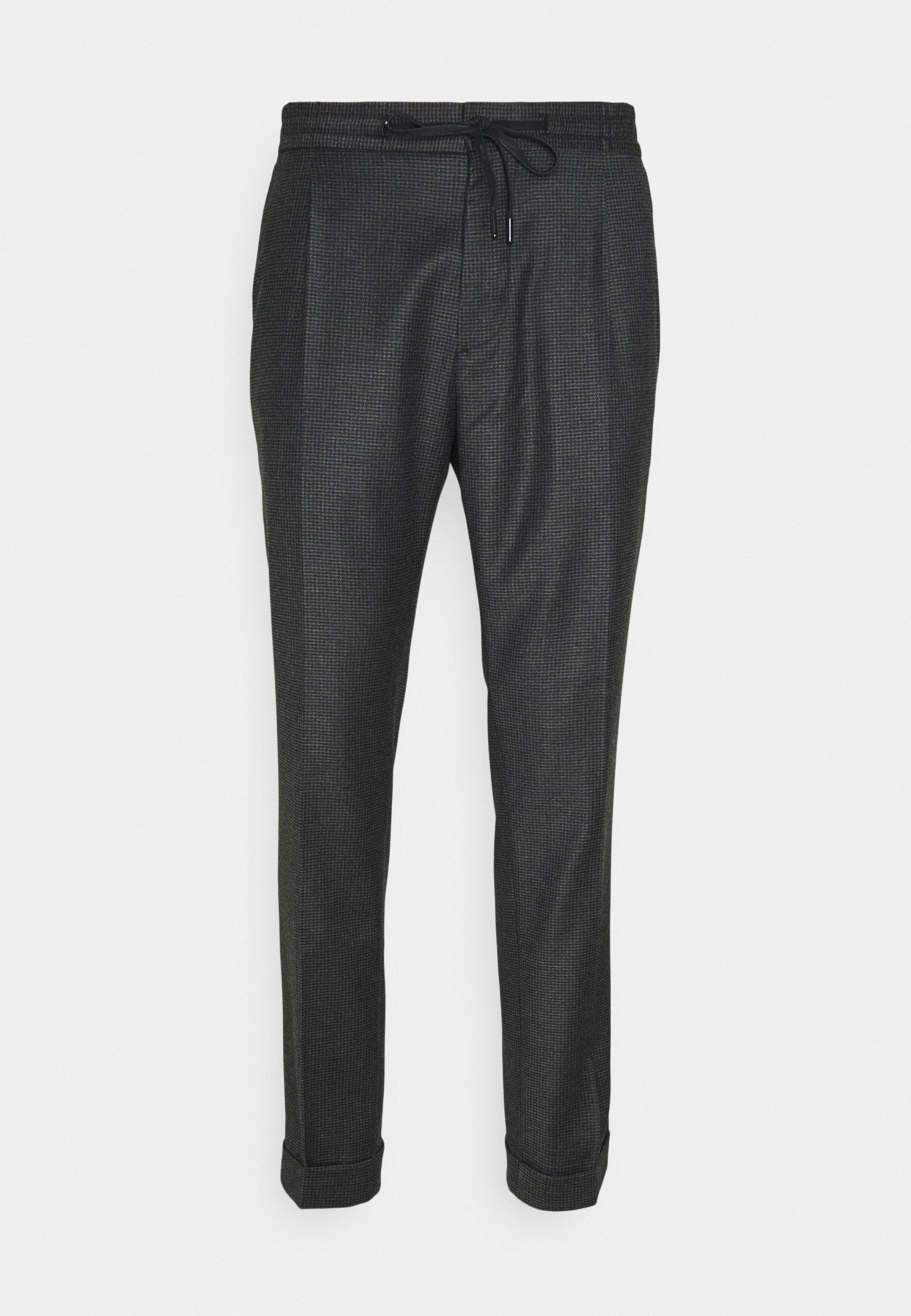Uomo SASHA PLEATED HOUNDTOOTH PANTS - Pantaloni