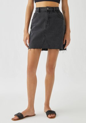 A-line skirt - black denim