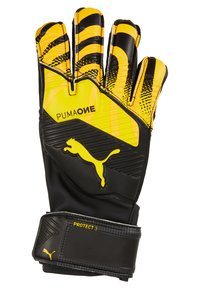 Puma - ONE PROTECT - Goalkeeping gloves - ultra yellow/black/white - 1