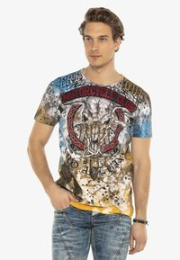 Cipo & Baxx - Print T-shirt - brown - 3